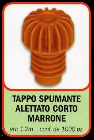 TAPPO SPUMANTE ALETTATO CORTO MARRONE STELPLAST s.a.s ...
