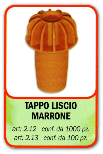 TAPPO LISCIO MARRONE STELPLAST s.a.s. - Tappi per enologia